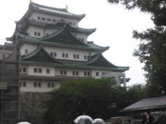 Nagoya Castle with rain