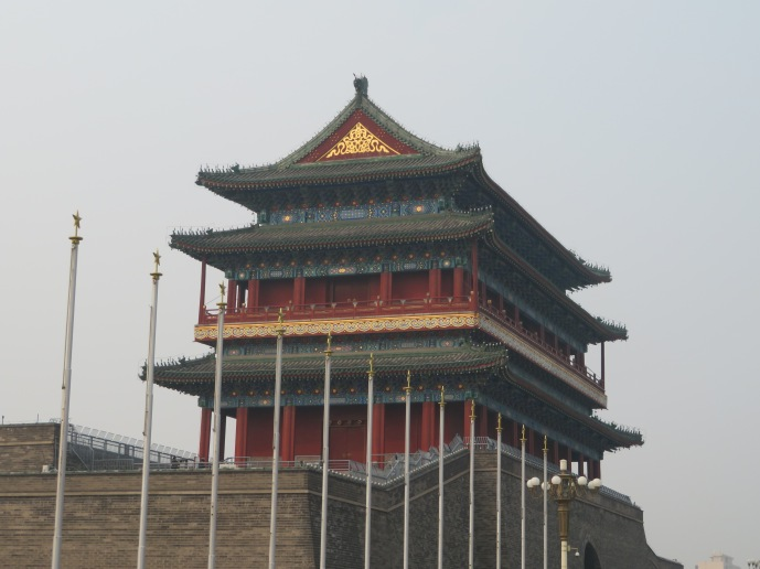 Drum Tower at one end of the square