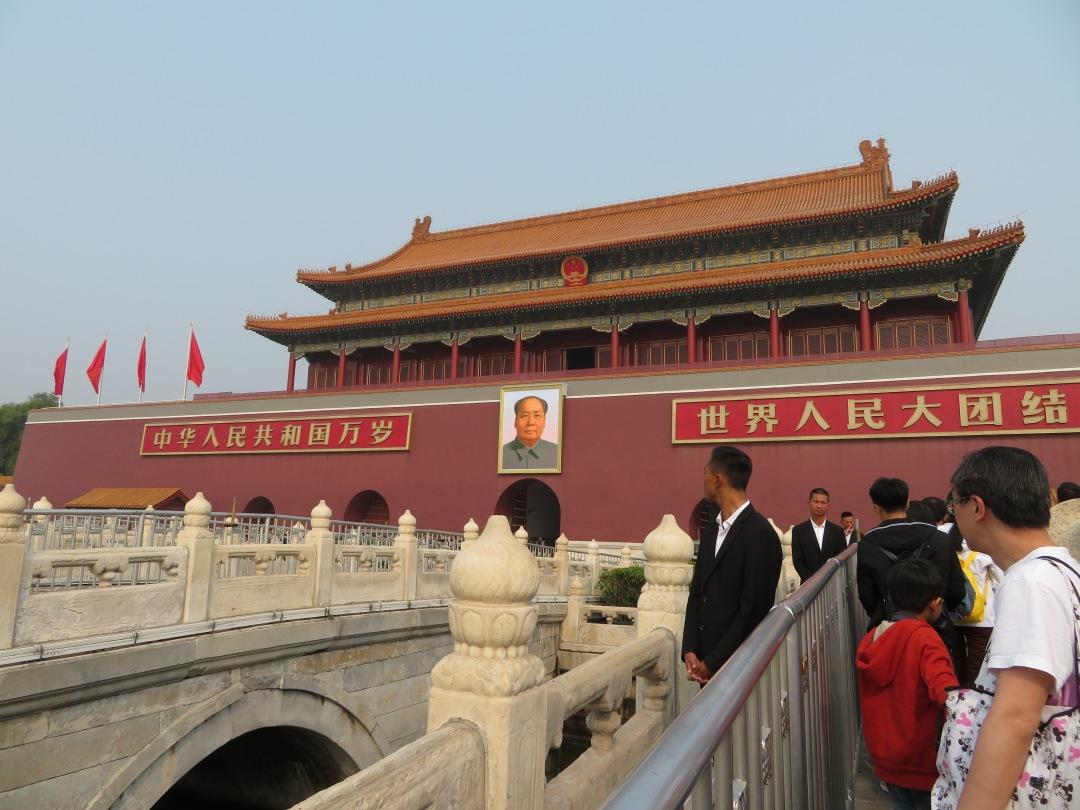 Mao's Portrait on the Forbidden City.